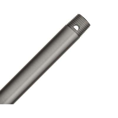 12 in. Brushed Slate Extension Downrod for 10 ft. ceilings