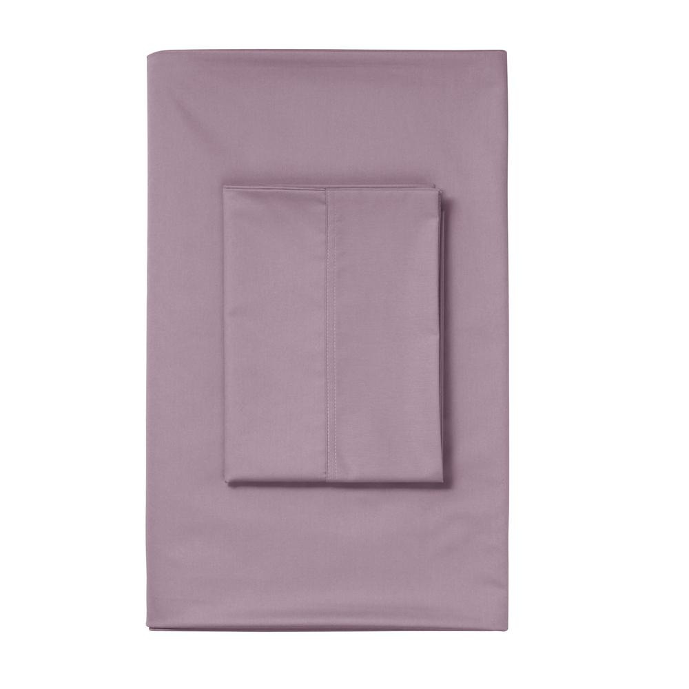 TheCompanyStore The Company Store Wisteria Solid 450 Thread Count Wrinkle-Free Sateen King Flat Sheet