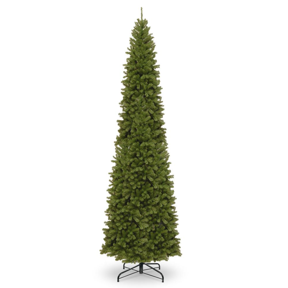 national tree company 12 ft north valley spruce pencil slim tree nrv7 505 120 the home depot. Black Bedroom Furniture Sets. Home Design Ideas
