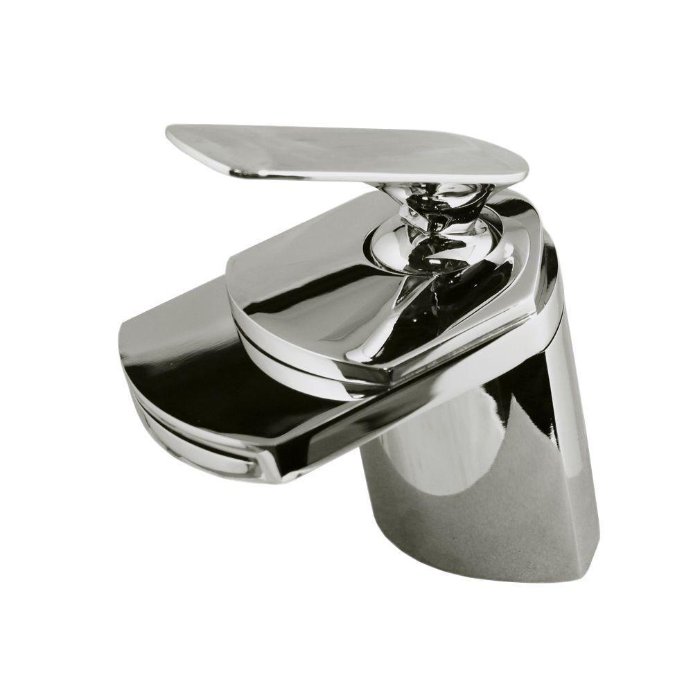 Kokols Viynl Series Single Hole 1-Handle Waterfall Vessel Bathroom ...