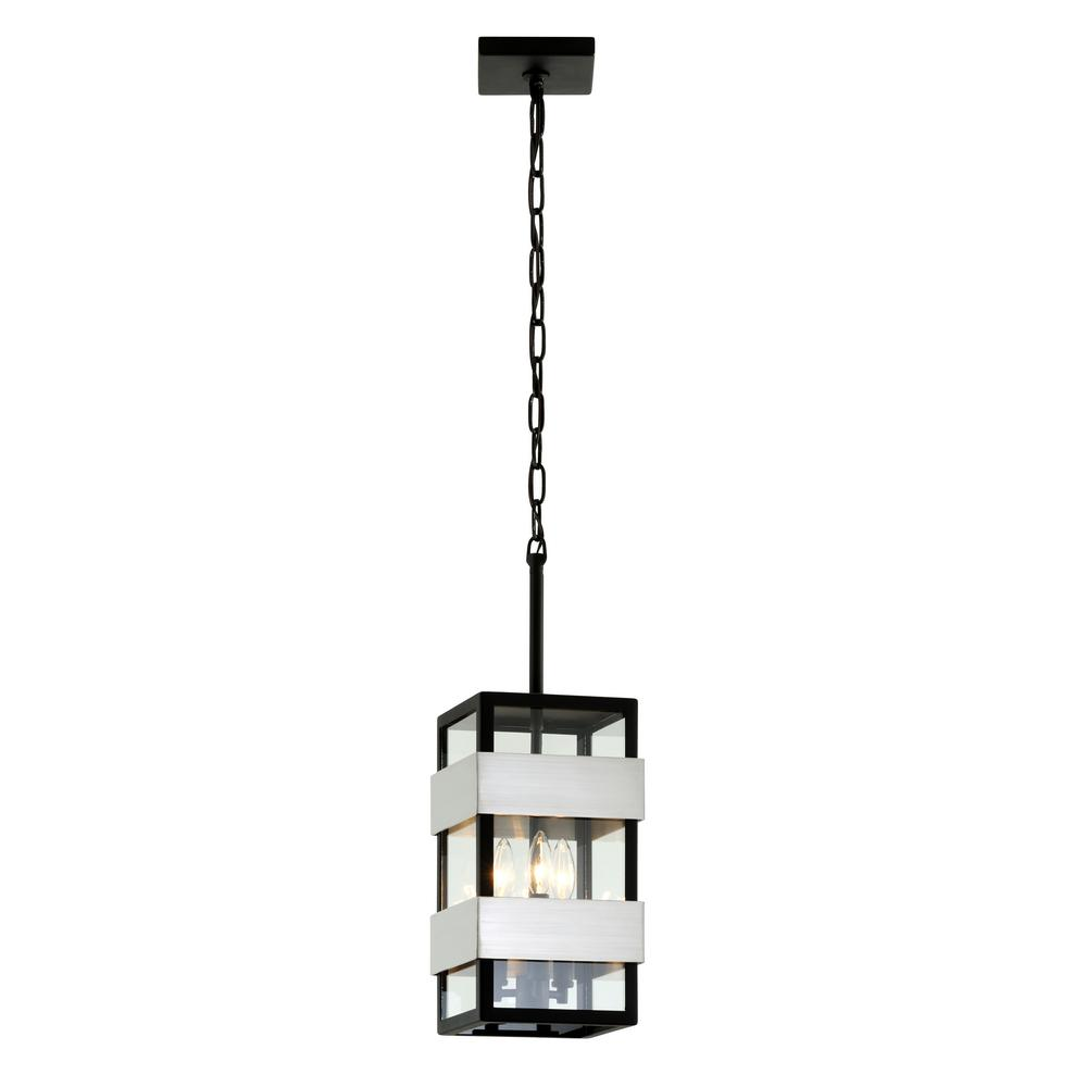Dana Point Textured Black 3-Light 7.75 in. W Outdoor Hanging Light
