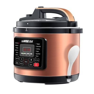 GoWISE USA-12.5 Qt. Copper Electric Pressure Cooker with Ceramic Pot
