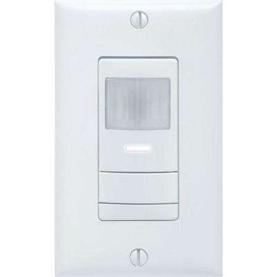 Dual Detection Occupancy 1-Pole Wall Switch Sensor - White