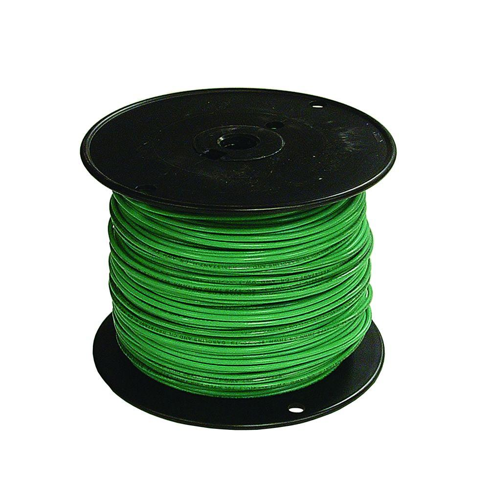 Southwire 500 ft. 14-Gauge Stranded XHHW Wire - Green-37096572 - The ...