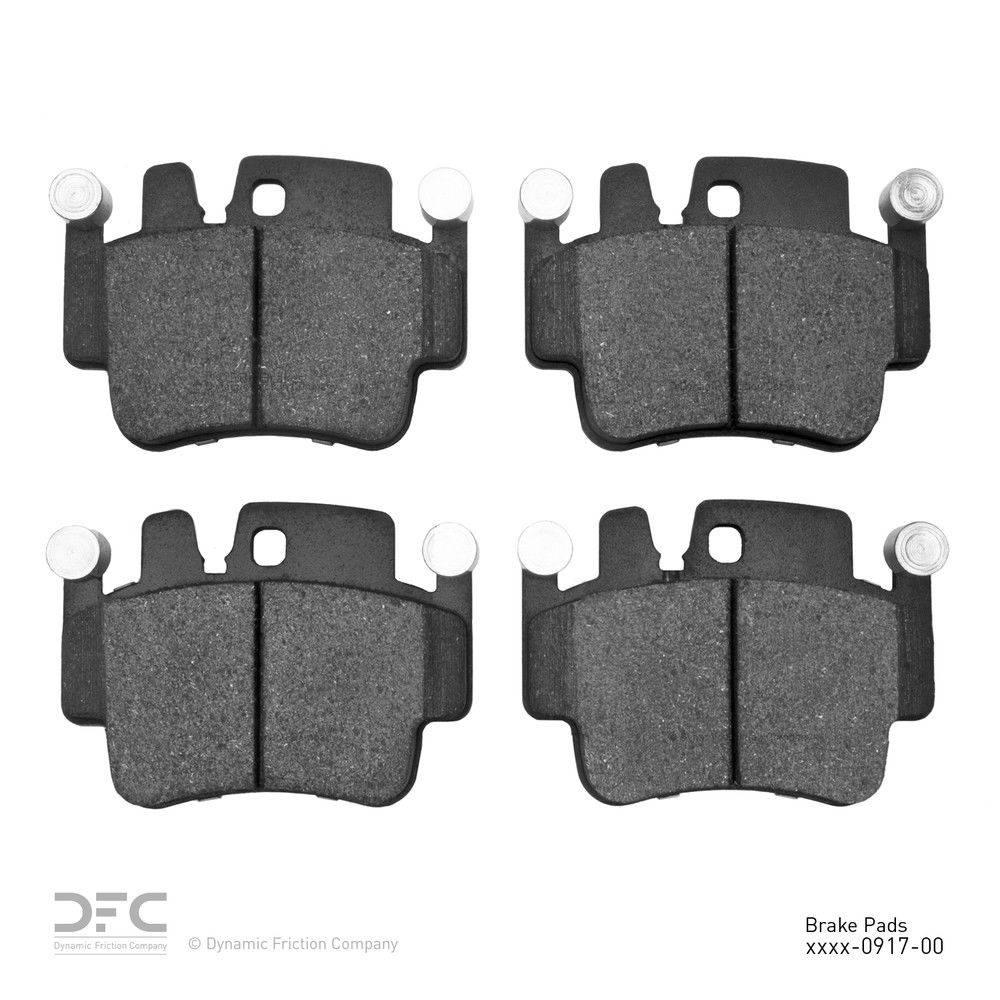 Dynamic Friction Company Dfc 5000 Advanced Brake Pads Low Metallic 1551 0917 00 The Home Depot