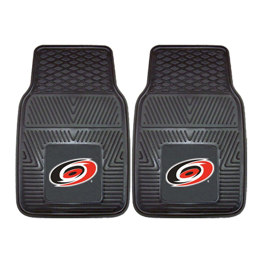 FANMATS Carolina Hurricanes 18 in. x 27 in. 2-Piece Heavy Duty Vinyl Car Mat