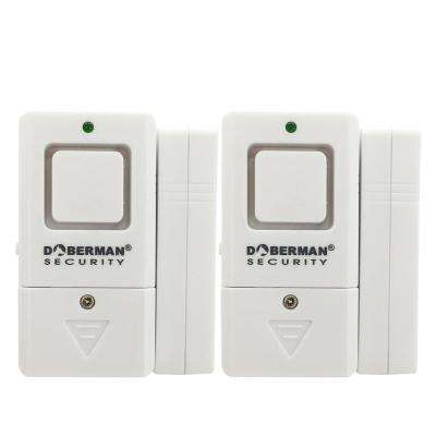 Mini Door and Window Alarm/Chime (2-Pack)