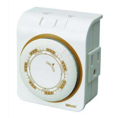 Indoor 7-Day Heavy Duty Mechanical Outlet Timer