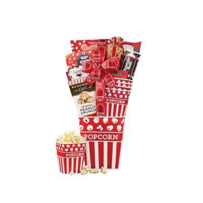 Movie Night Popcorn and Candy Gift Basket