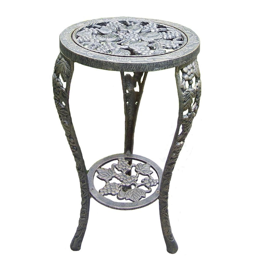 Metal Grape Table Plant Stand