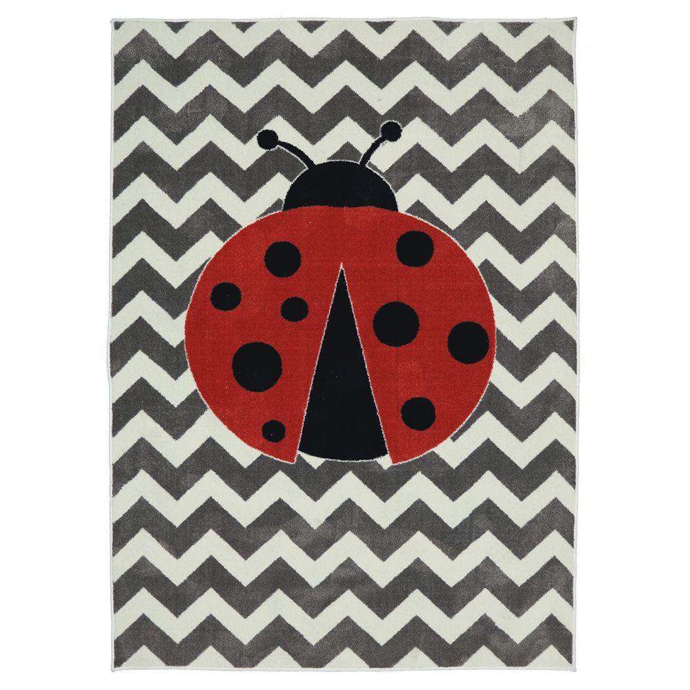 Little Lady Bug Multi 5 ft. x 8 ft. Indoor Area