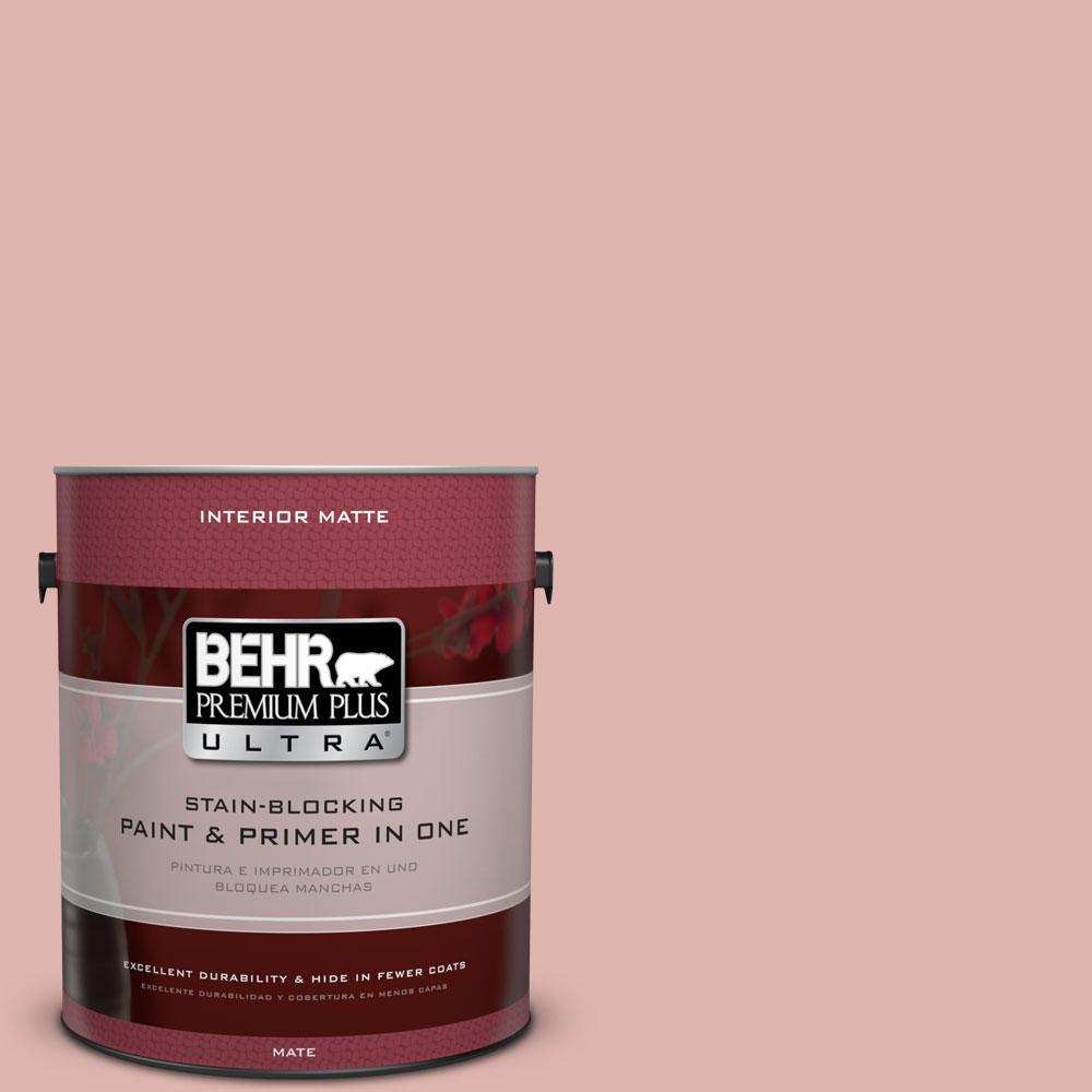 BEHR Premium Plus Ultra 1 gal. #S160-2 Pink Quartz Matte Interior ...