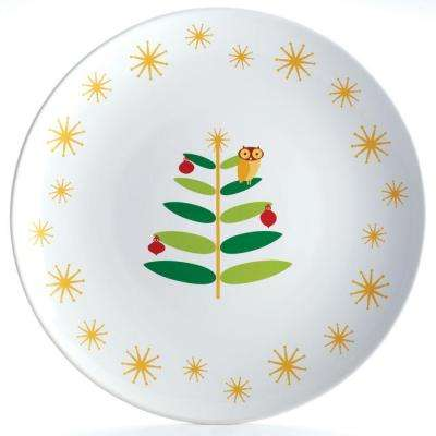 Holiday Hoot 14 in. Round Platter