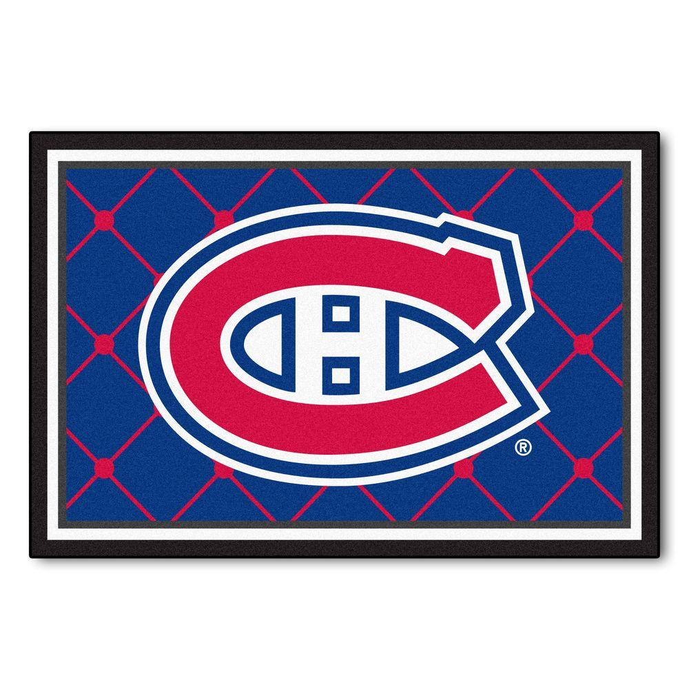 FANMATS NHL Montreal Canadiens Blue 5 ft. x 8 ft. Indoor Area Rug