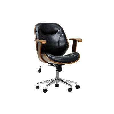 Rathburn Black Faux Leather Office Chair