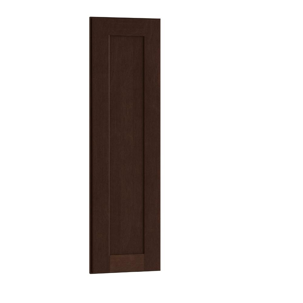 Home Decorators Collection Franklin Assembled 12x42x0.75 in. Matching End Panel Wall Kitchen in Manganite