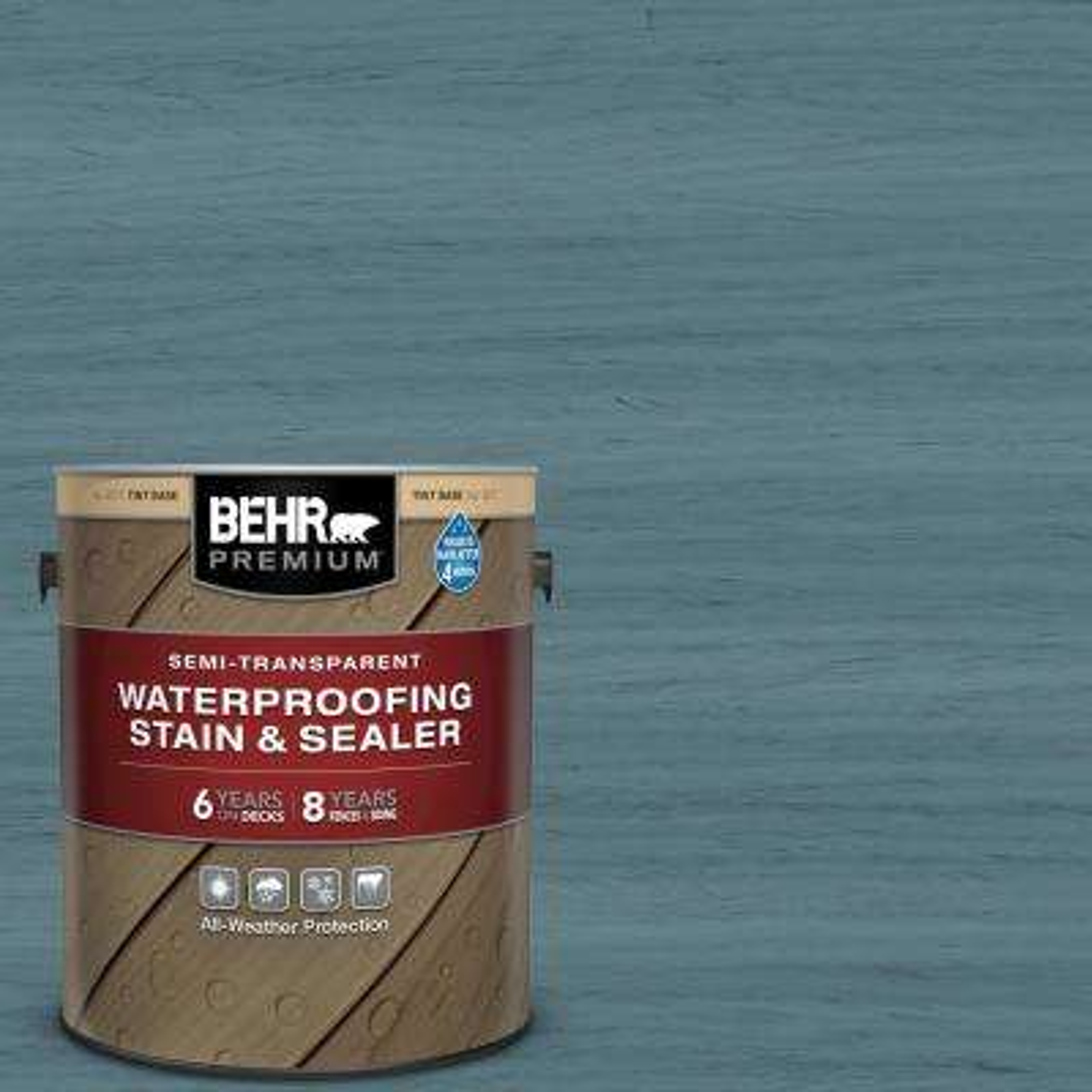 1 gal. #ST-113 Gettysburg Semi-Transparent Waterproofing Exterior Wood Stain and Sealer