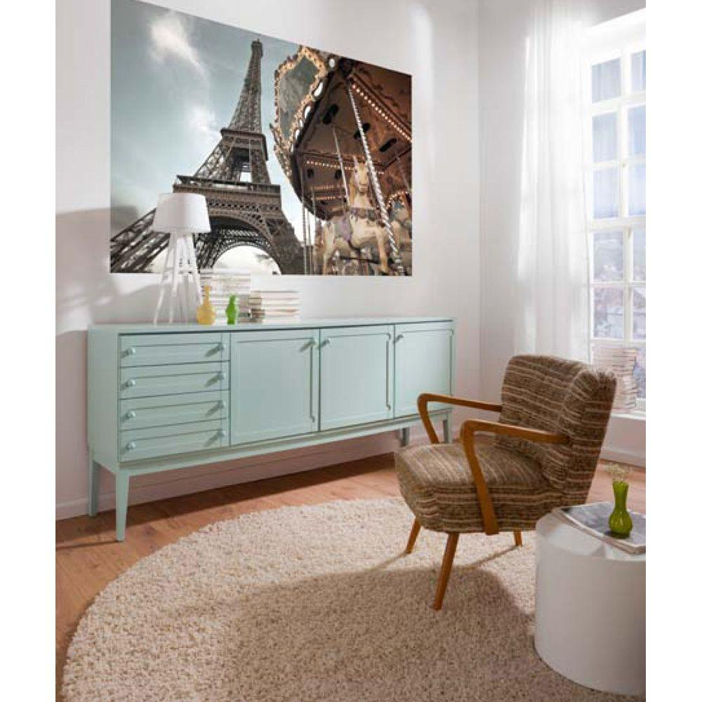 Komar 50 in. x 72 in. Carrousel de Paris Wall Mural, Meta...