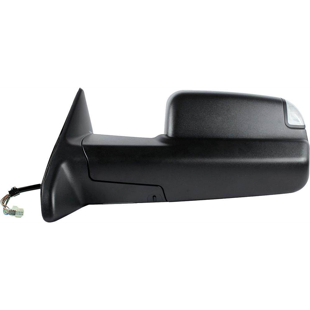towing mirror for 13-17 dodge ram 1500/2500 12-17 3500 with turn signal  puddle lamp power fold lh heated power