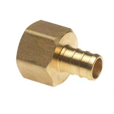 1/2 in. Brass PEX Barb x 1/2 in. Female Pipe Thread Adapter (5-Pack)