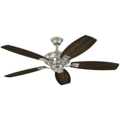 Aiden 52 in. Indoor Brushed Nickel Ceiling Fan