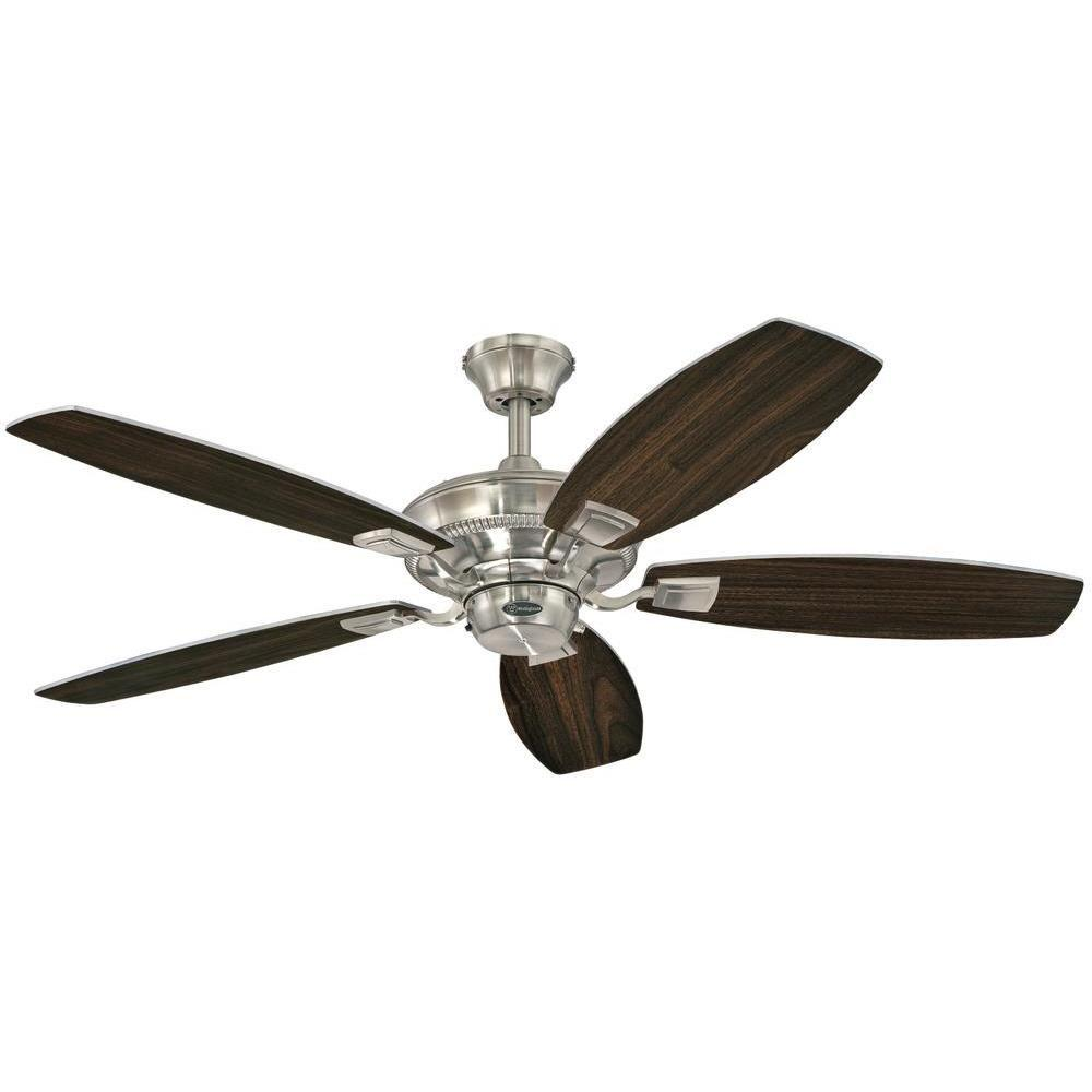Indoor Brushed Nickel Finish Ceiling Fan