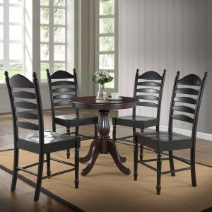 Fairview 30 in. Round Pedestal Dining Table in Espresso