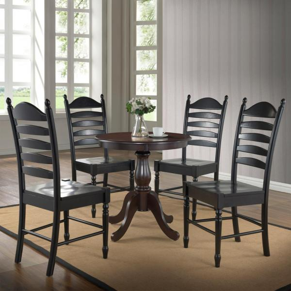 Carolina Cottage Fairview 30 In Round Pedestal Dining Table In Espresso 3030t Esp The Home Depot