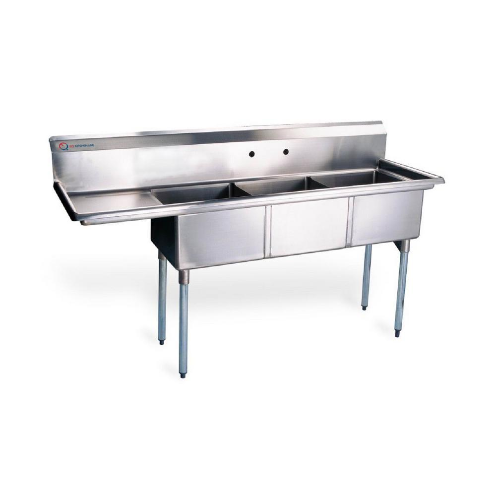Industrial Kitchen Sink: EQ Kitchen Line 48.5 In. X 19.5 In. X 43.75 In