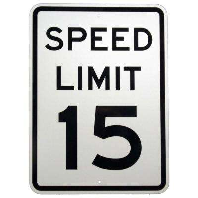 24 in. x 18 in. Aluminum Speed Limit 15 MPH Sign