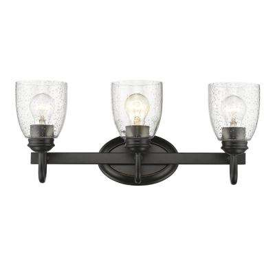 Parrish 3-Light Black Bath Light