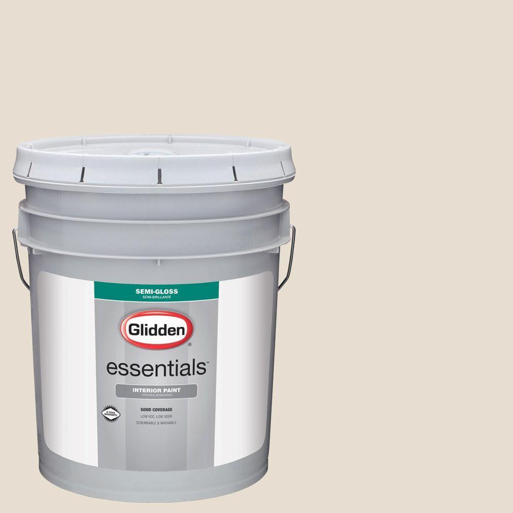 5 gal. #HDGWN29 Cappuccino White Semi-Gloss Interior Paint