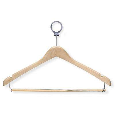 Maple Hotel Suit Hangers with Locking Bar (24-Pack)