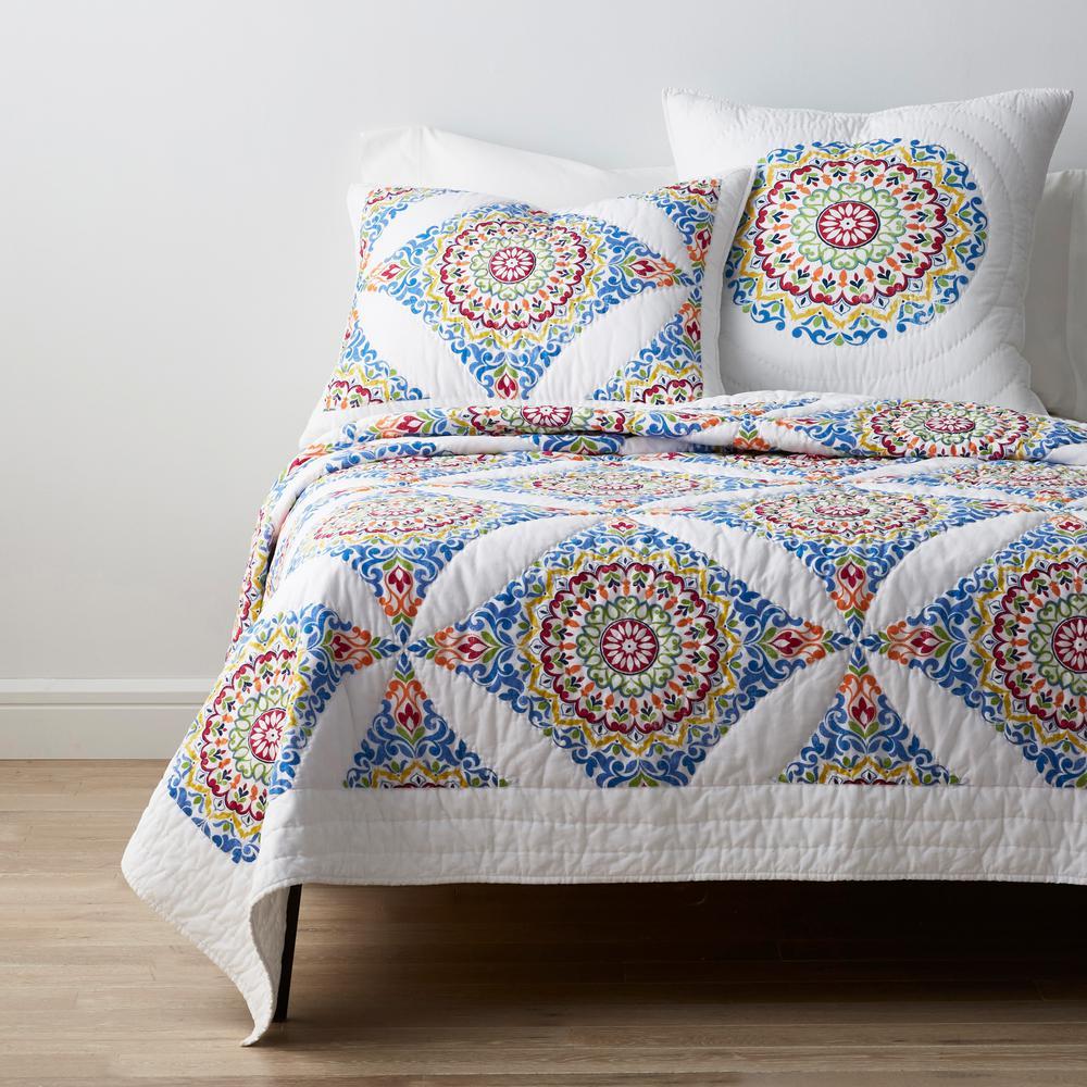 Cordoba Geometric Textured Cotton Quilt
