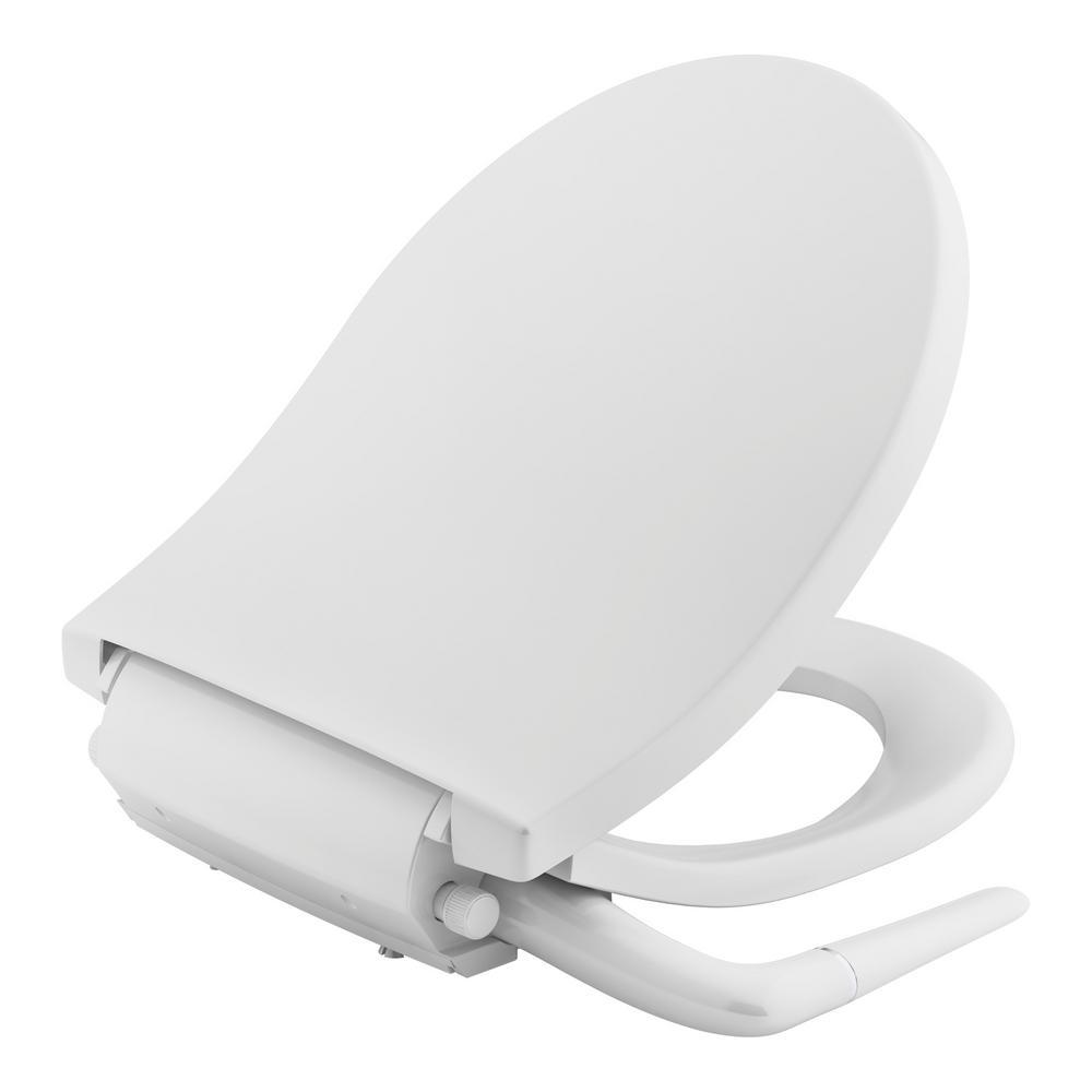 Puretide Non-Electric Bidet Seat for Round Toilets in White