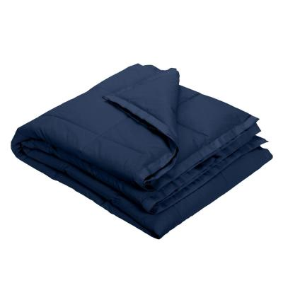 LaCrosse LoftAIRE Down Alternative Navy Blue Cotton Throw Blanket