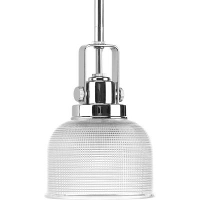 Archie Collection 1-Light Chrome Mini Pendant with Clear Prismatic Glass