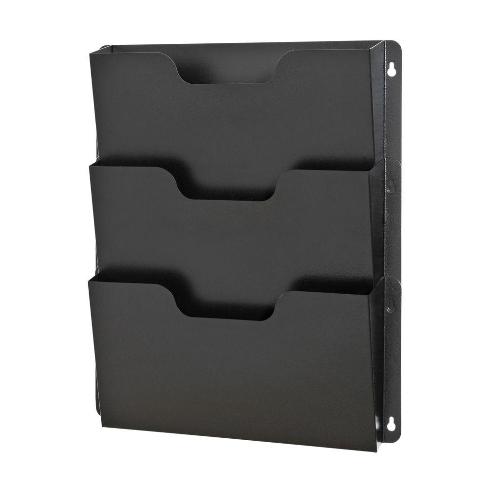 BuddyProducts Buddy Products Triple Wall Pocket File, Black