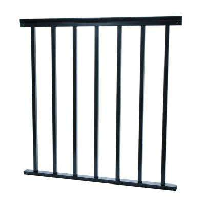 3/4 in. x 32 in. x 36 in. Aluminum Black Baluster Railing
