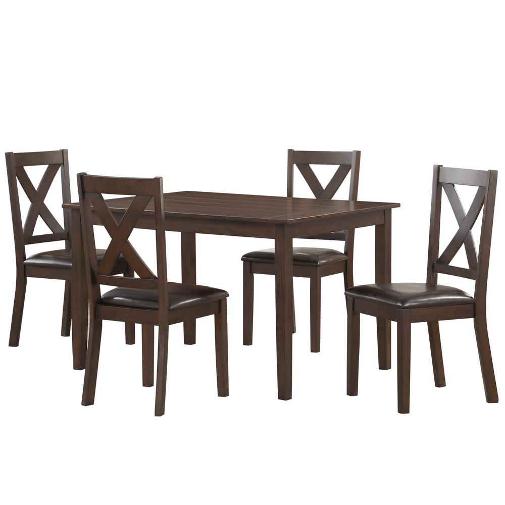 Pulaski Furniture Traditional Style Dark Brown Dining Set Ds D186