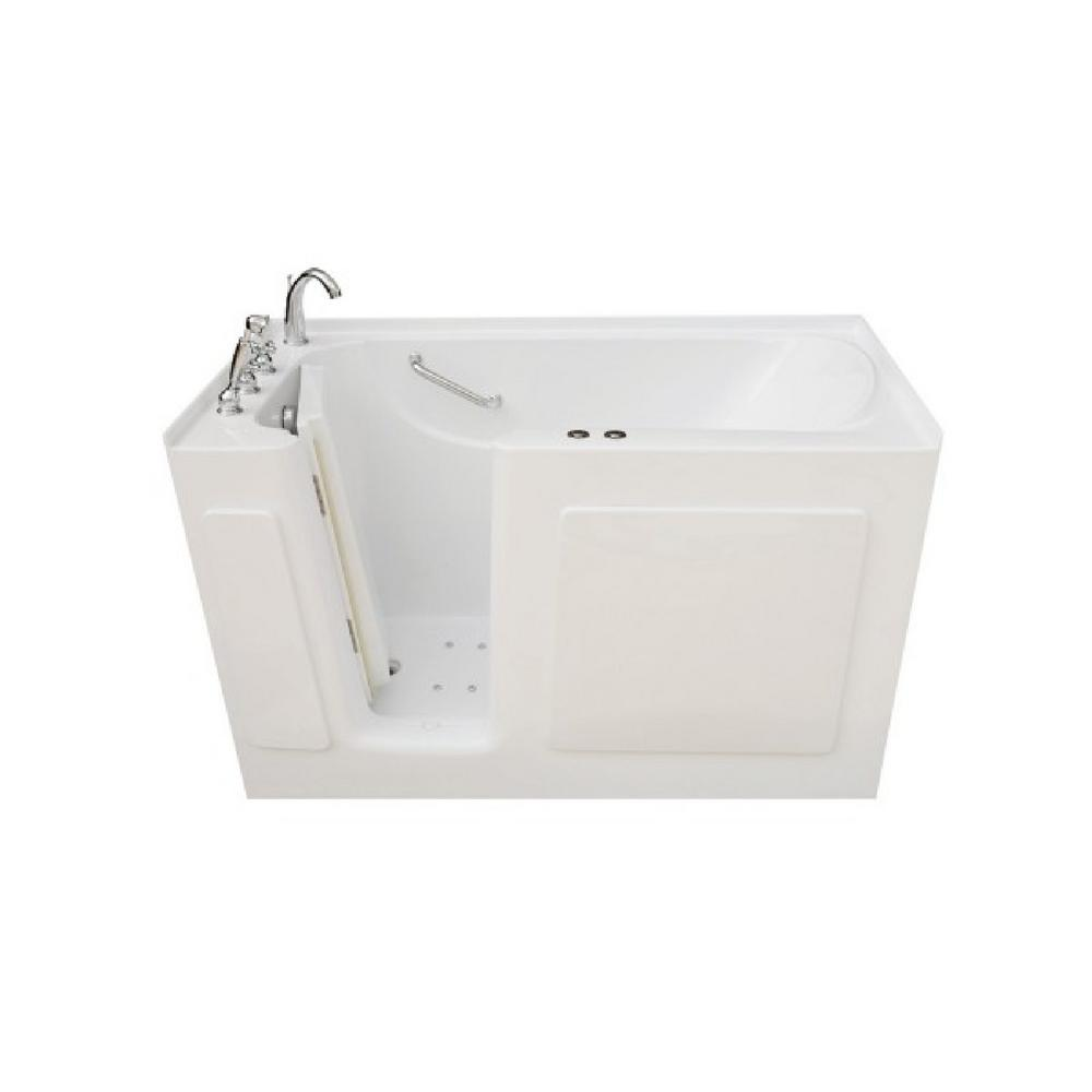 Pinnacle 3.91 ft. Left Drain Walk-In Whirlpool and Air Bath Tub in White with Tranquility Package