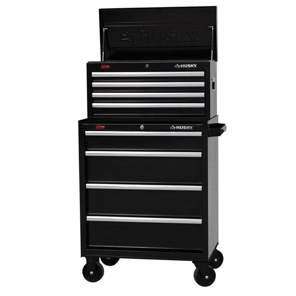 Husky 27 in. W 8-Drawer Tool Chest and Cabinet Set