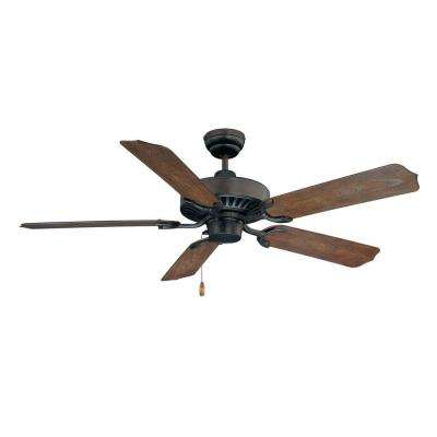 52 in. Outdoor English Bronze Ceiling Fan