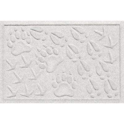 Aqua Shield Animal Tracks White 17.5 in. x 26.5 in. Pet Mat