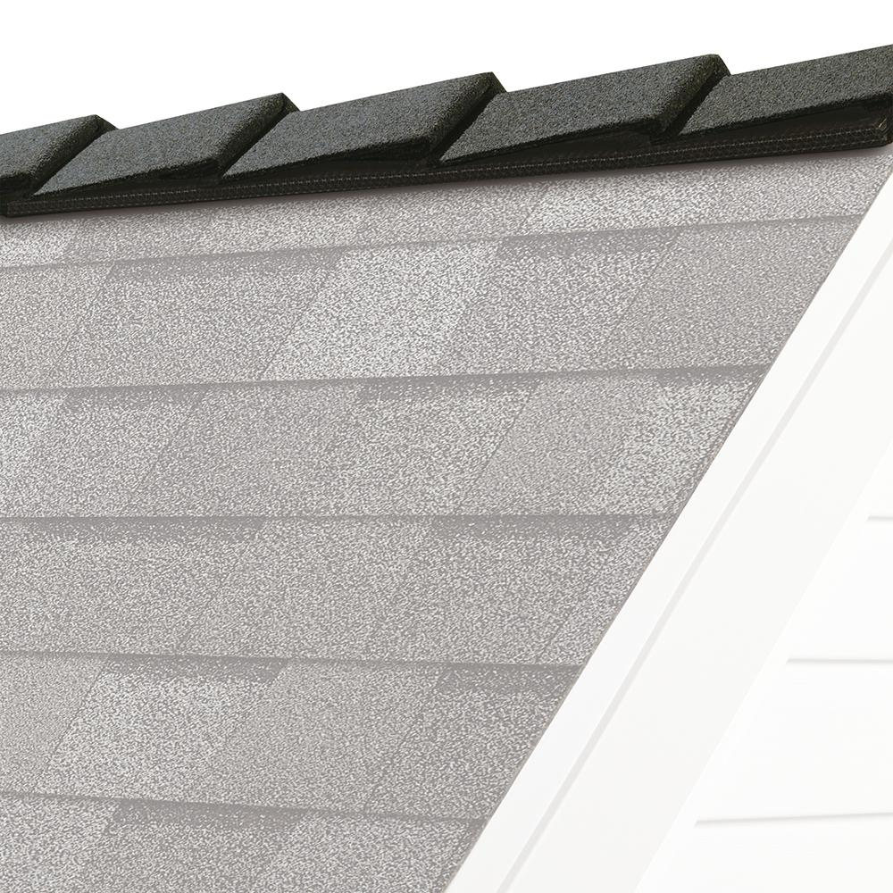 DecoRidge 8 in. Estate Gray Hip and Ridge Asphalt Roofing Shingles