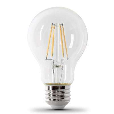 60W Equivalent Clear Daylight (5000K) A19 IntelliBulb Dusk to Dawn CEC Title 20 Compliant 90+ CRI LED Light Bulb