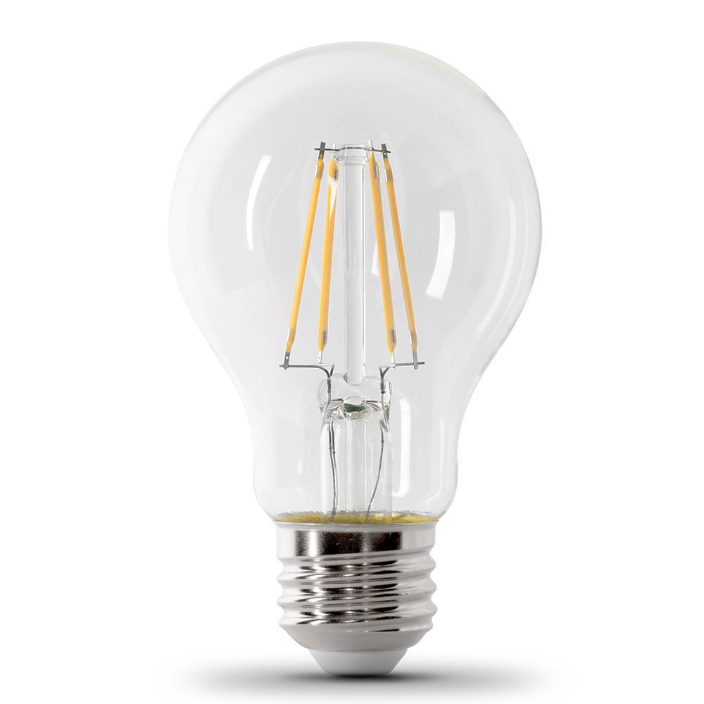 60W Equivalent Clear Daylight (5000K) A19 IntelliBulb Dusk to Dawn CEC Title 20 Compliant 90+ CRI LED Light Bulb