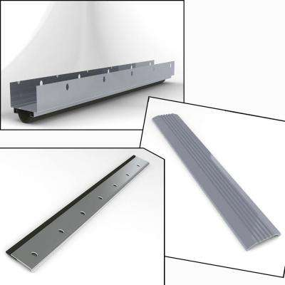 36 in. x 84 in. Gray Complete Weather-Strip Package for Doors