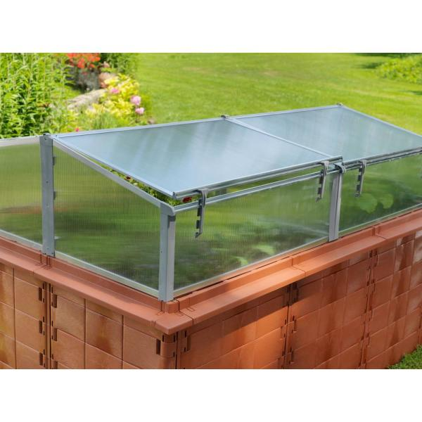 Exaco Jumbo 79 In W X 39 In D X 16 In H Cold Frame Greenhouse 200 Cf 200 20443 The Home Depot