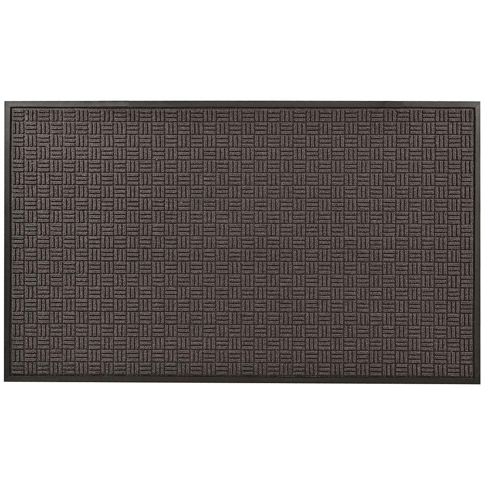 NoTrax Portrait Charcoal 48 in. x 72 in. Rubber-Backed Entrance Mat